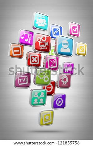 APPS icons High resolution 3d render