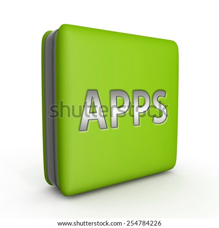 Apps square icon on white background