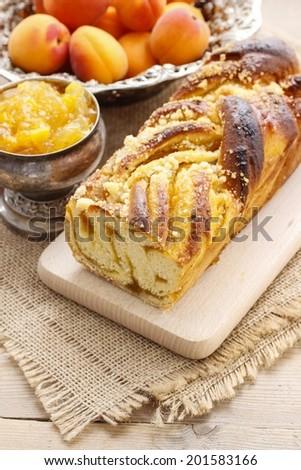 Apricot cake - stock photo