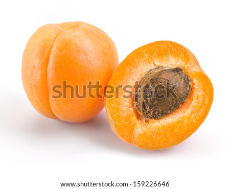 Apricot. Fruits isolated on white.