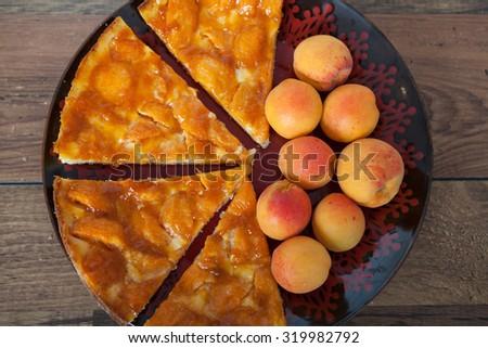 Apricot Pie - stock photo