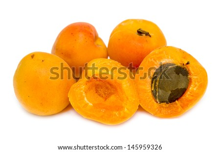 apricot yellow isolated on white background
