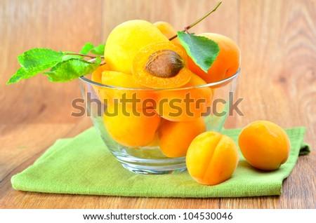 apricots - stock photo