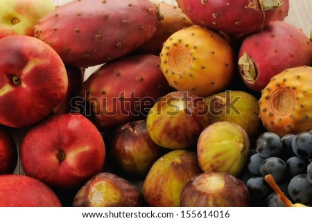 apricots, peaches, pears, grapes and various fruits