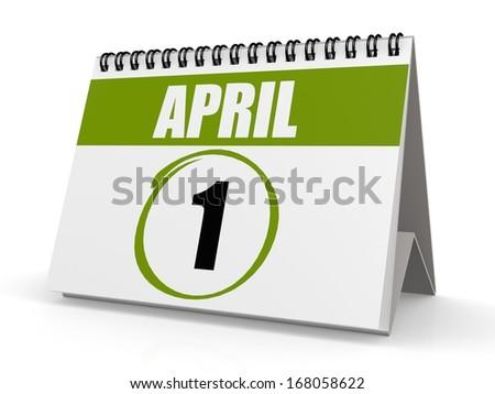 April 1 calendar - stock photo