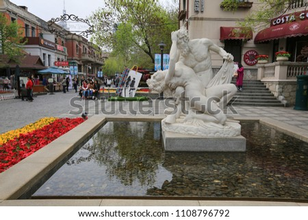 April 8, 2017, China. Italian Quarter in Tianjin City