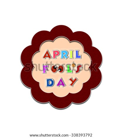 April fools day illustration over floral style background banner - stock photo
