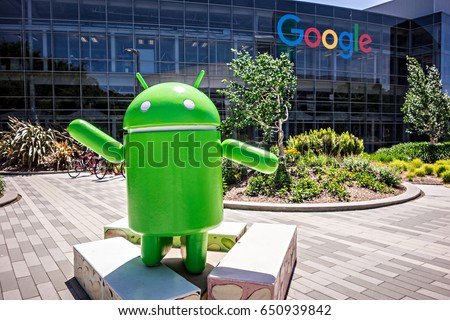 April 2017 San Francisco California - Google Corporate Headquarters and Logo at googleplex