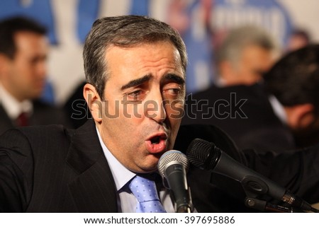 April 11, 2008 - Sora - Frosinone - Italy - The intervention of Maurizio Gasparri at a public meeting of the People of Freedom