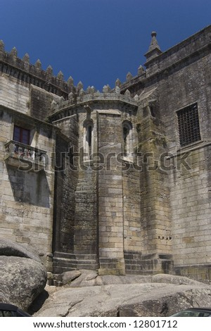 Apse of SŽ Cathedral in Viseu, Portugal - stock photo