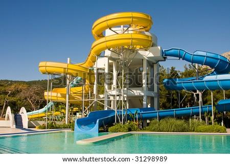 Aqua-park - stock photo