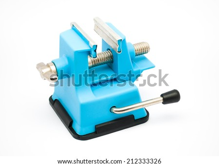 Aqua Plastic Bench Vise with Suction Cup.