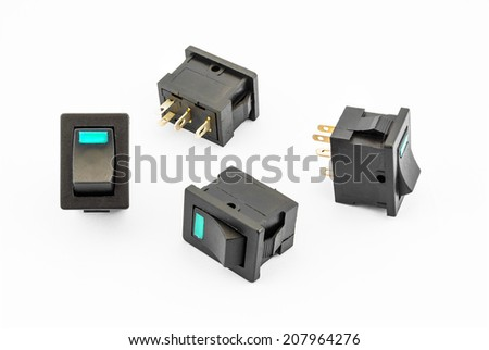 Aqua Rocker Switches with Build-in LED.