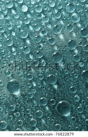 aquamarine water drops as background - stock photo
