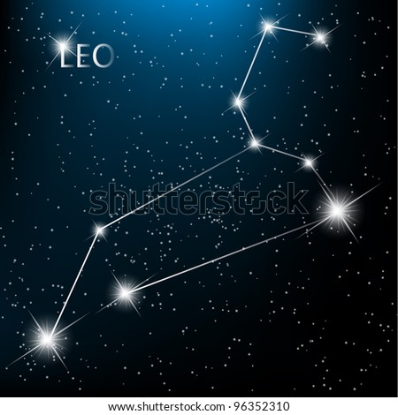 Aquarius  Zodiac sign bright stars in cosmos. Raster version - stock photo