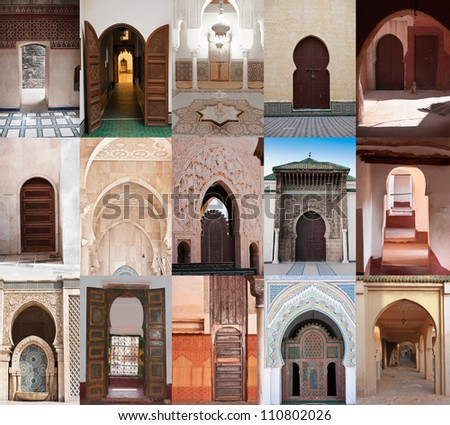 Arab doors samples - stock photo
