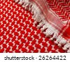 Arab Keffiyeh  closeup. More of this pattern & more textiles in my port. - stock photo