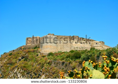 Arab medieval stronghold on the coast of Sicily
