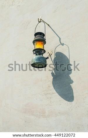 Arab street lanterns in the city of Dubai in the United Arab Emirates - stock photo