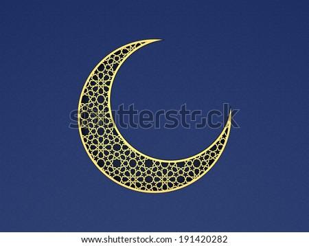 Arabesque Moon - stock photo