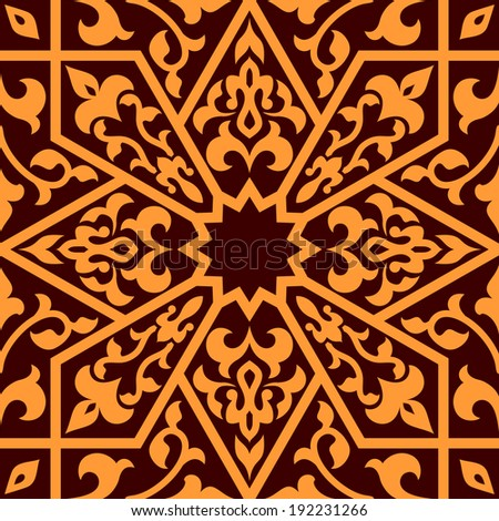 Arabian eastern seamless ornament for background design. Vector version also available in gallery - stock photo