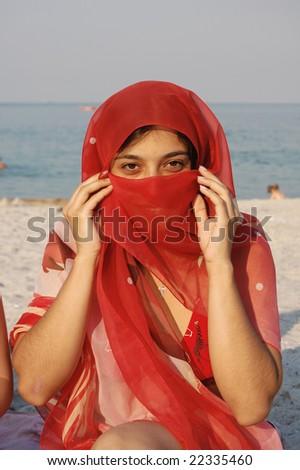 Arabian girl - stock photo