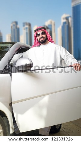 Arabian Guy in the City - stock photo