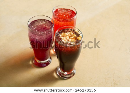 Arabian juice of jallab served in holy month ramadan - stock photo