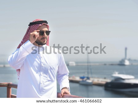 Arabian man in the port of Odessa