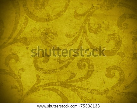 Arabian style elegant juicy damask. More of this motif & more backgrounds in my port. - stock photo