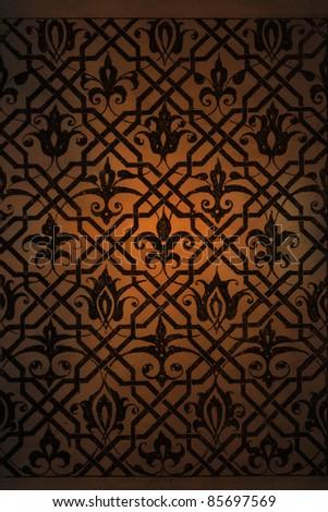 Arabic background pattern - stock photo