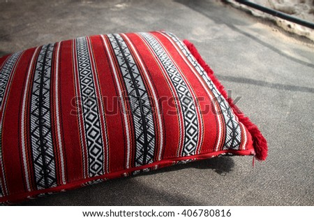 Arabic cushion used in Arab majlis and in desert tents. Qatar & Arabian Tent Stock Images Royalty-Free Images u0026 Vectors ...