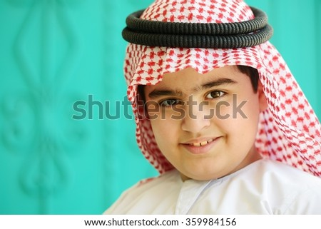 Arabic kid - stock photo