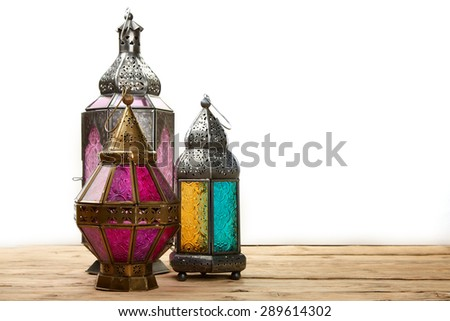 arabic lamp - stock photo
