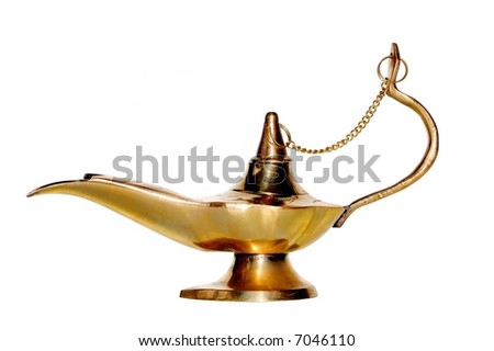 Arabic lamp isolated over a white background - stock photo