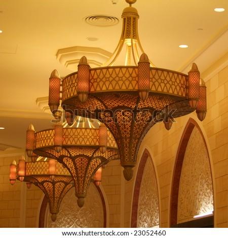 Arabic lamp style - stock photo
