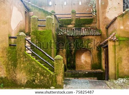 Arabic Monastery Interior Facade - stock photo