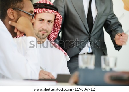 Arabic people having a business meeting