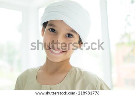 Arabic people posing - stock photo