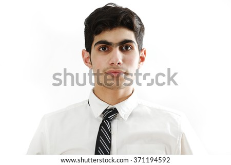 Arabic teenager portrait - stock photo