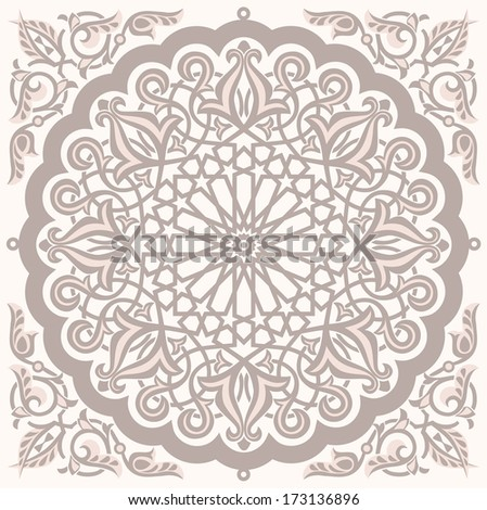Arabic vintage seamless ornament for background design. Vector version is available in my gallery - stock photo