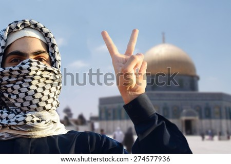 Arabic young man in Jerusalem Quds - stock photo