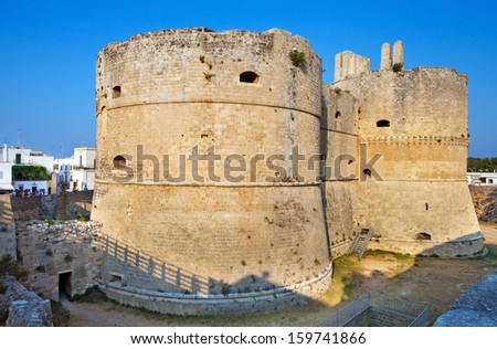 Aragonese Castle in Otranto, Italy - stock photo