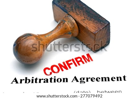 Arbitration agreement - stock photo