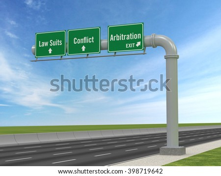 Arbitration | Take the Exit - stock photo
