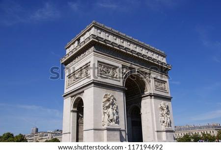 Arc de triomphe Paris France - stock photo