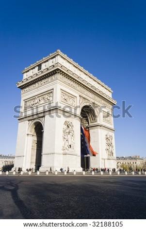 Arc De Triomphe, Paris France - stock photo