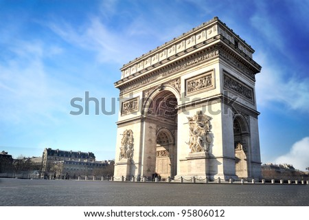 Arc de triomphe - Paris - France - stock photo