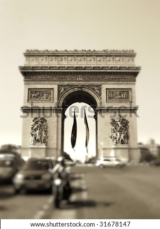Arc of Triumph - artistic toned picture