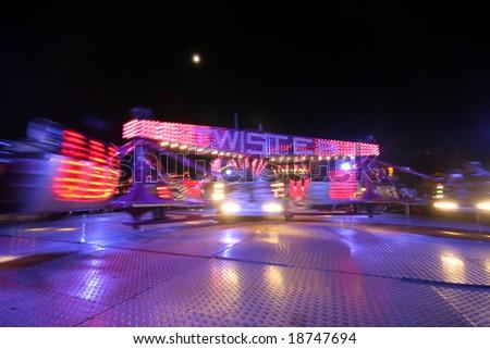 Arcade games at night, Cambridge, UK - stock photo